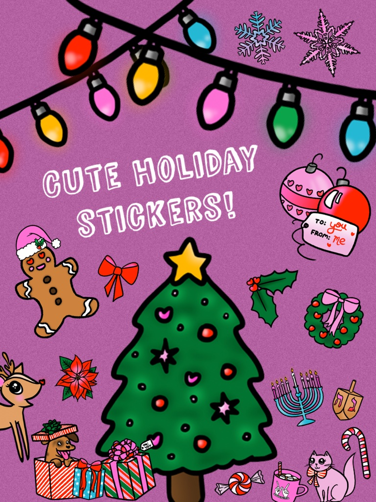 Cute #holiday stickers!