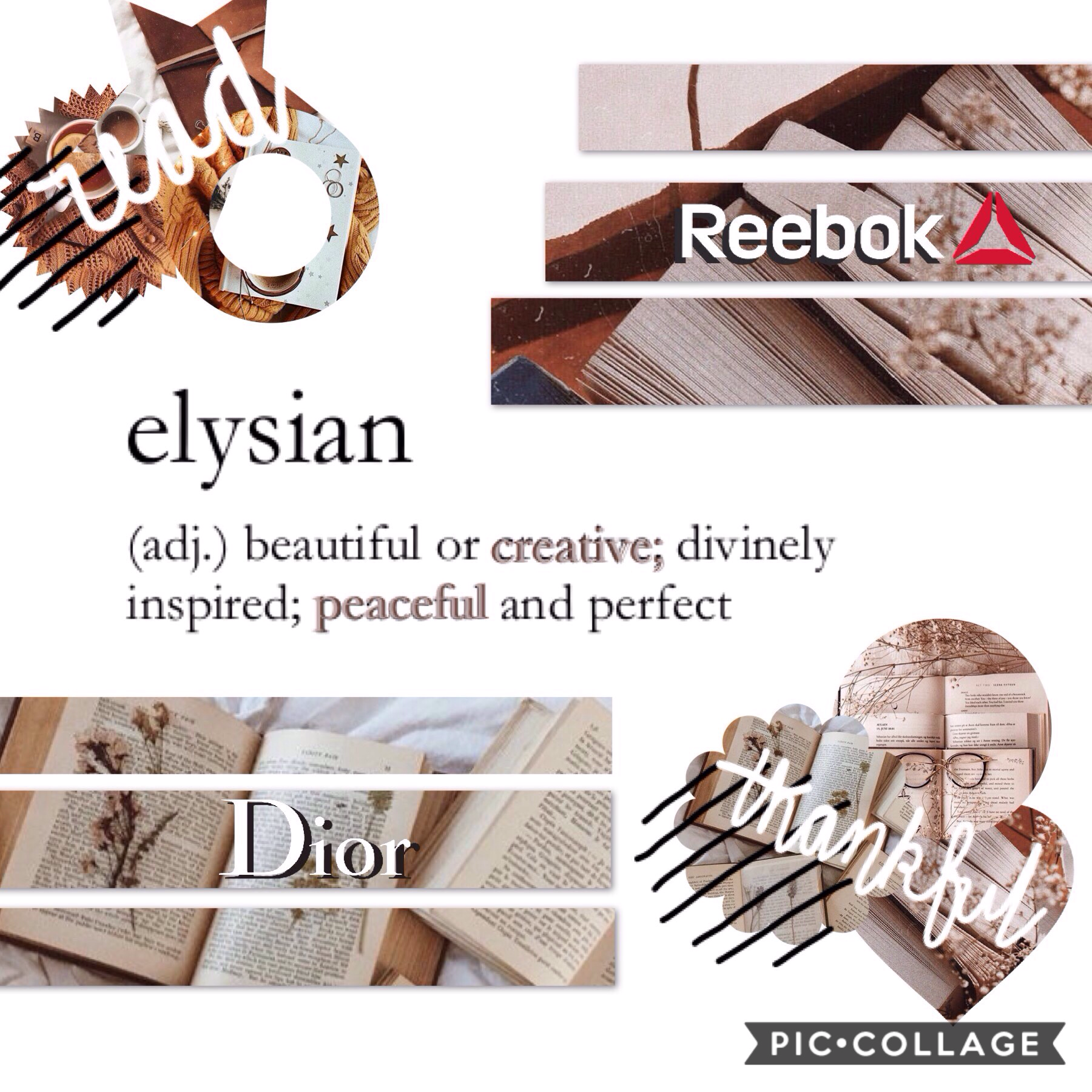 """>> elysian << """"beautiful or creative; divinely inspired; peaceful or perfect""""  ✨📖☕️  15><09><19 hey all! You've probably never heard of this but HAPPY RUOK DAY! (for info check my extras acc @positivity_pcsurveys) Hands up if you're a bookworm! 📚🐛🙋 YUSSSS"""