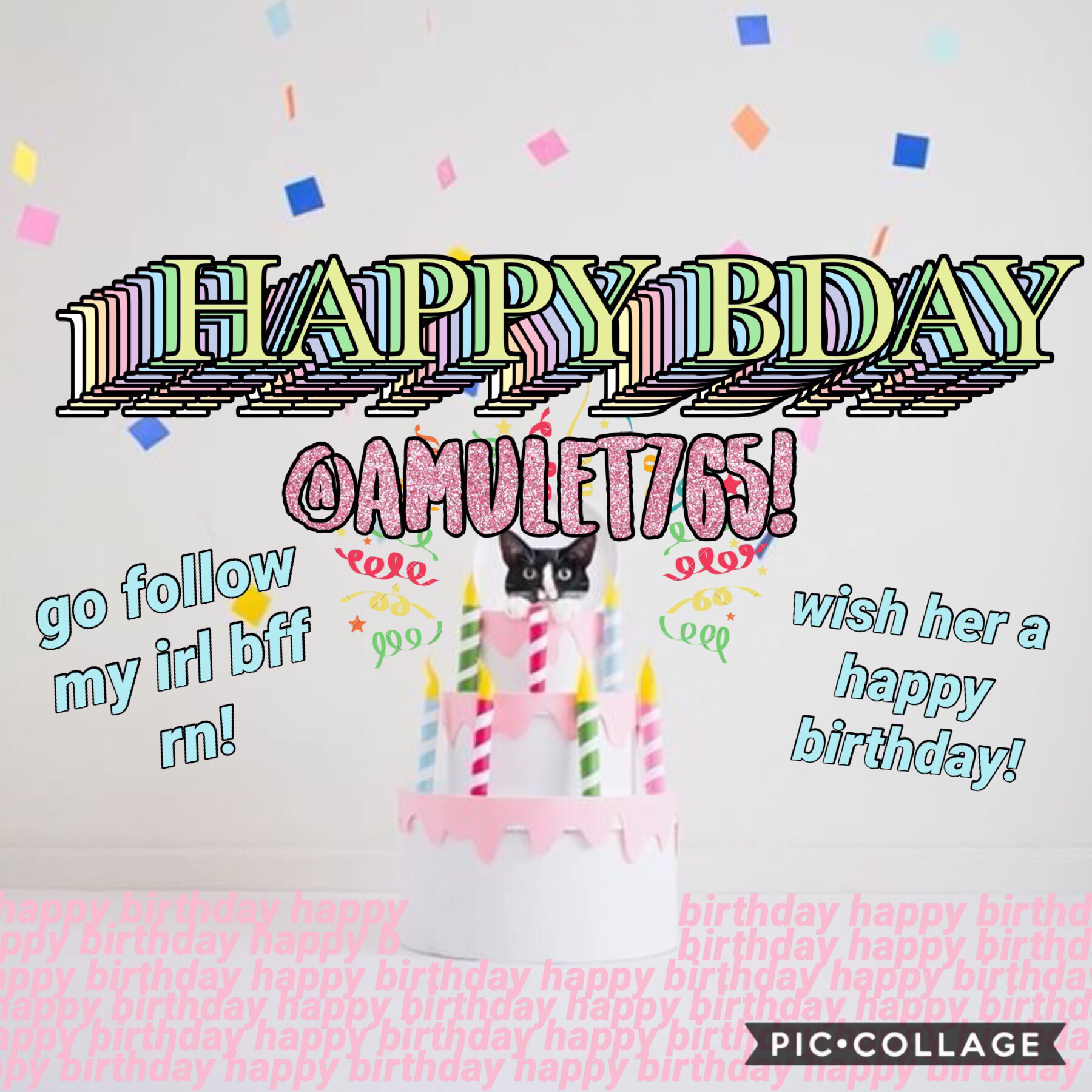 🥳happy birthday my bestie!!🥳 go follow @amulet765 rn if you haven't already and wish her the happiest bday!🎉🌿 (17.2.19)