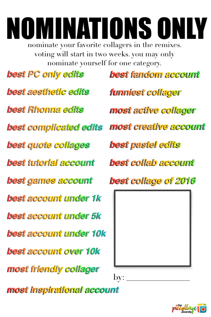 NOMINATIONS ONLY