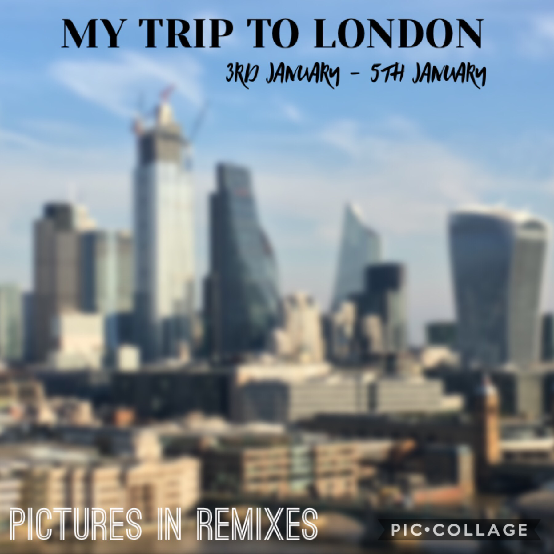 My trip to London Blog! Pictures in remixes! 🏙