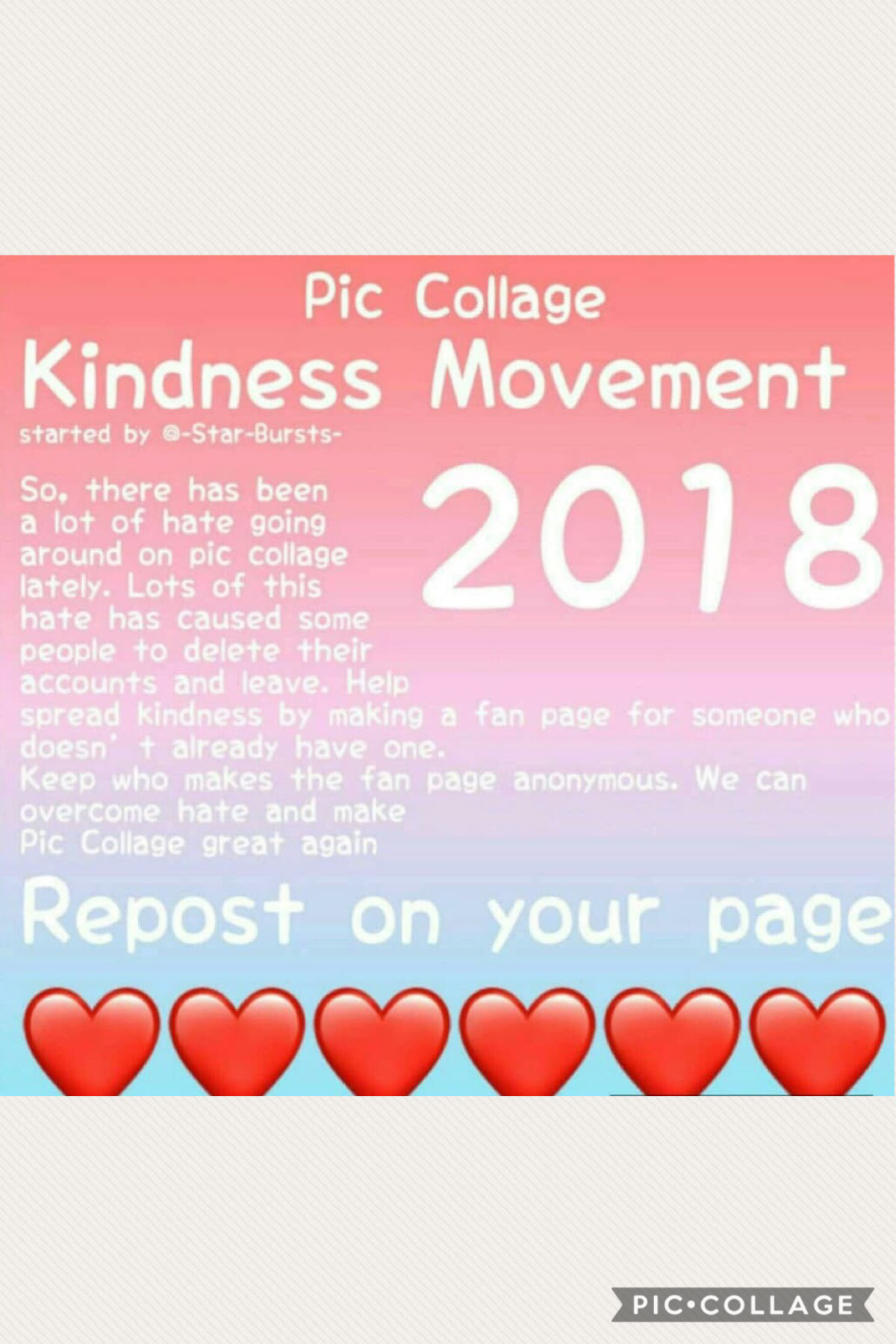 KINDNESS MOVEMENT!! Repost on ur page!!