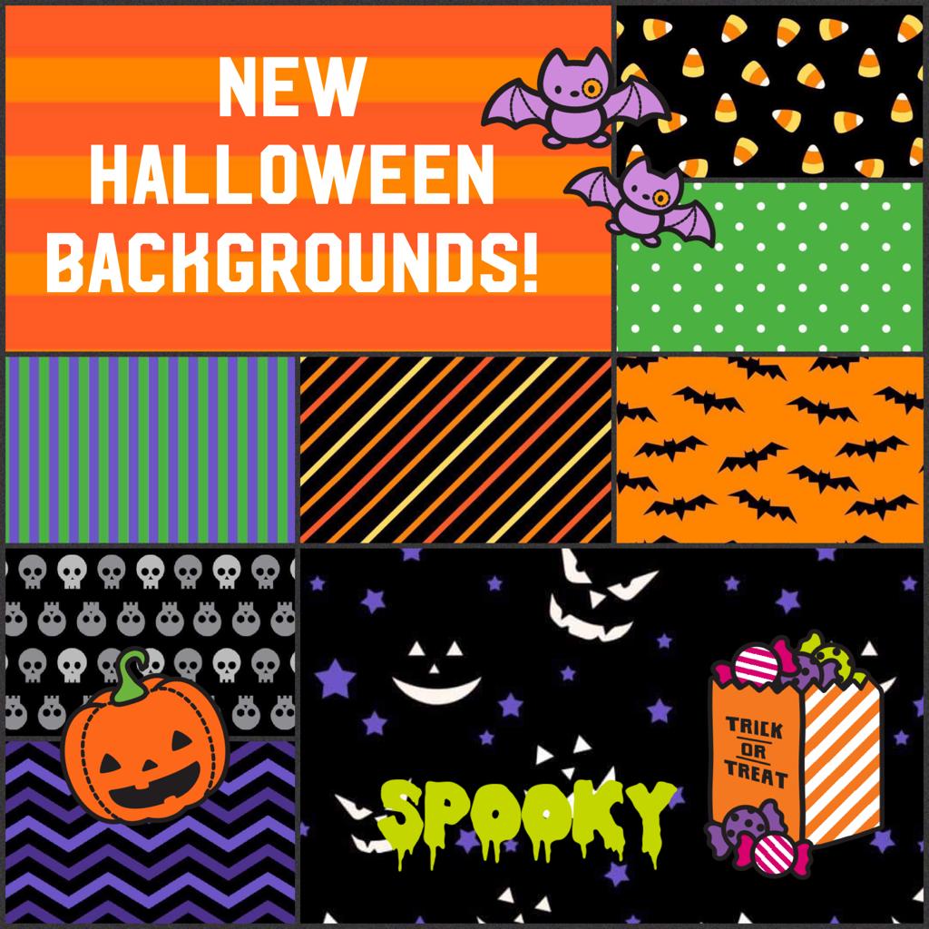 New Halloween Backgrounds!