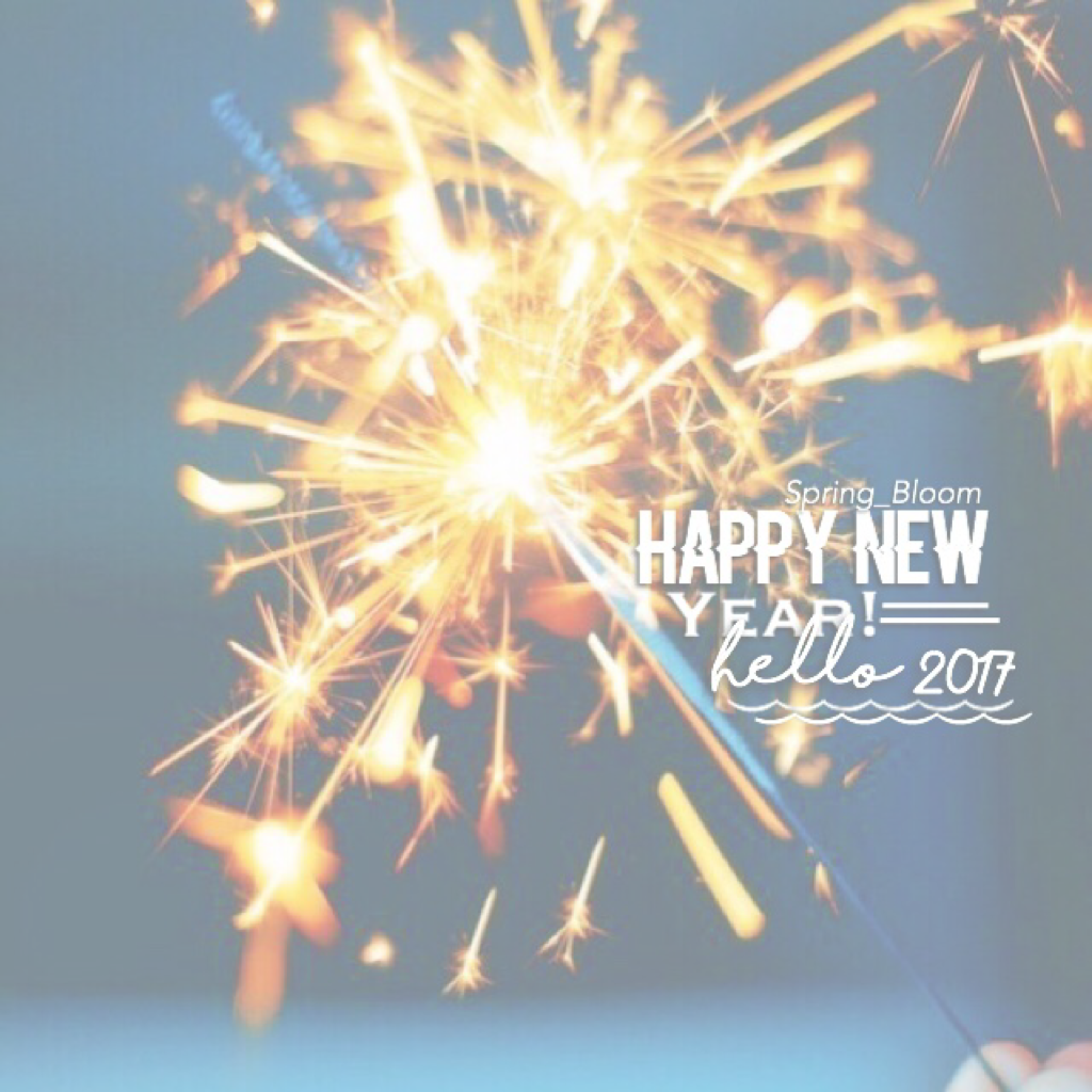 happy new year!!! (It's already 2017 in Aus)💖❤