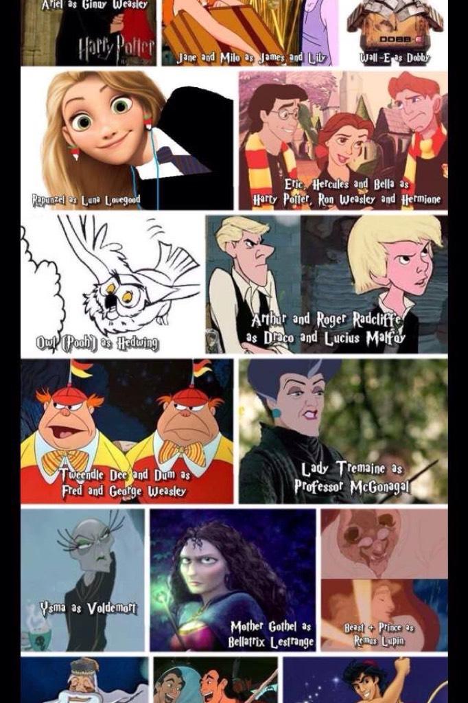 Disney + Harry Potter Love it