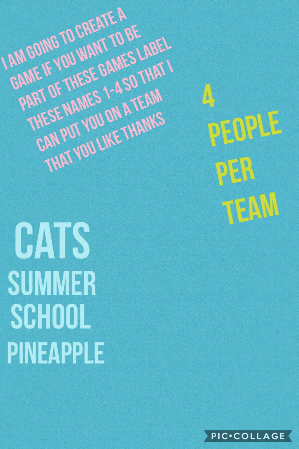 Remember 4 per team
