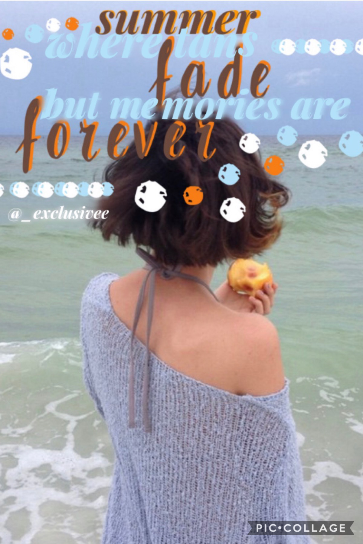"""🦋 Tap 🦋 Quote: """"Summer, where tans fade but memories are forever""""  Originally this collage was for another contest but I just thought I would put it here 🤷🏽♀️"""
