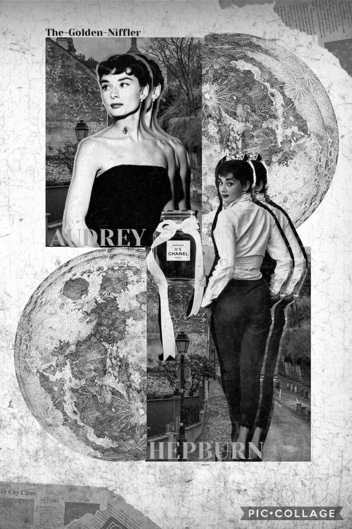 Hey Nifflers! I was going for a black and white theme with Audrey Hepburn in it!! Sorry if it blinds ur eyes!🤪Hope u have a great day!!👋😁