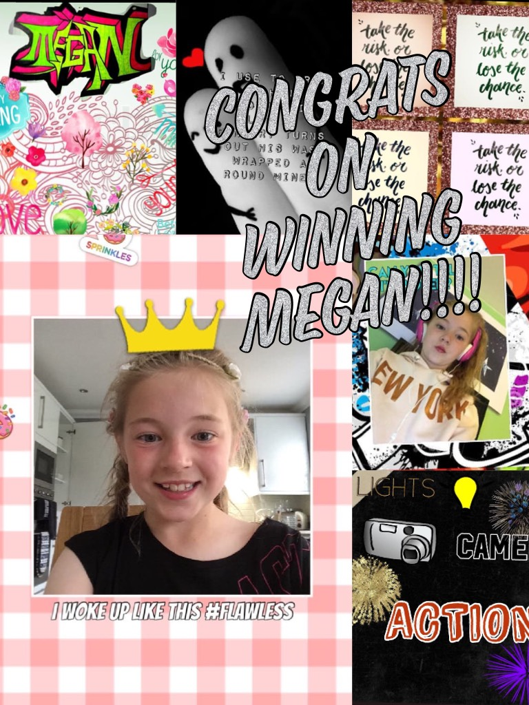 Congrats on winning Megan!!!!