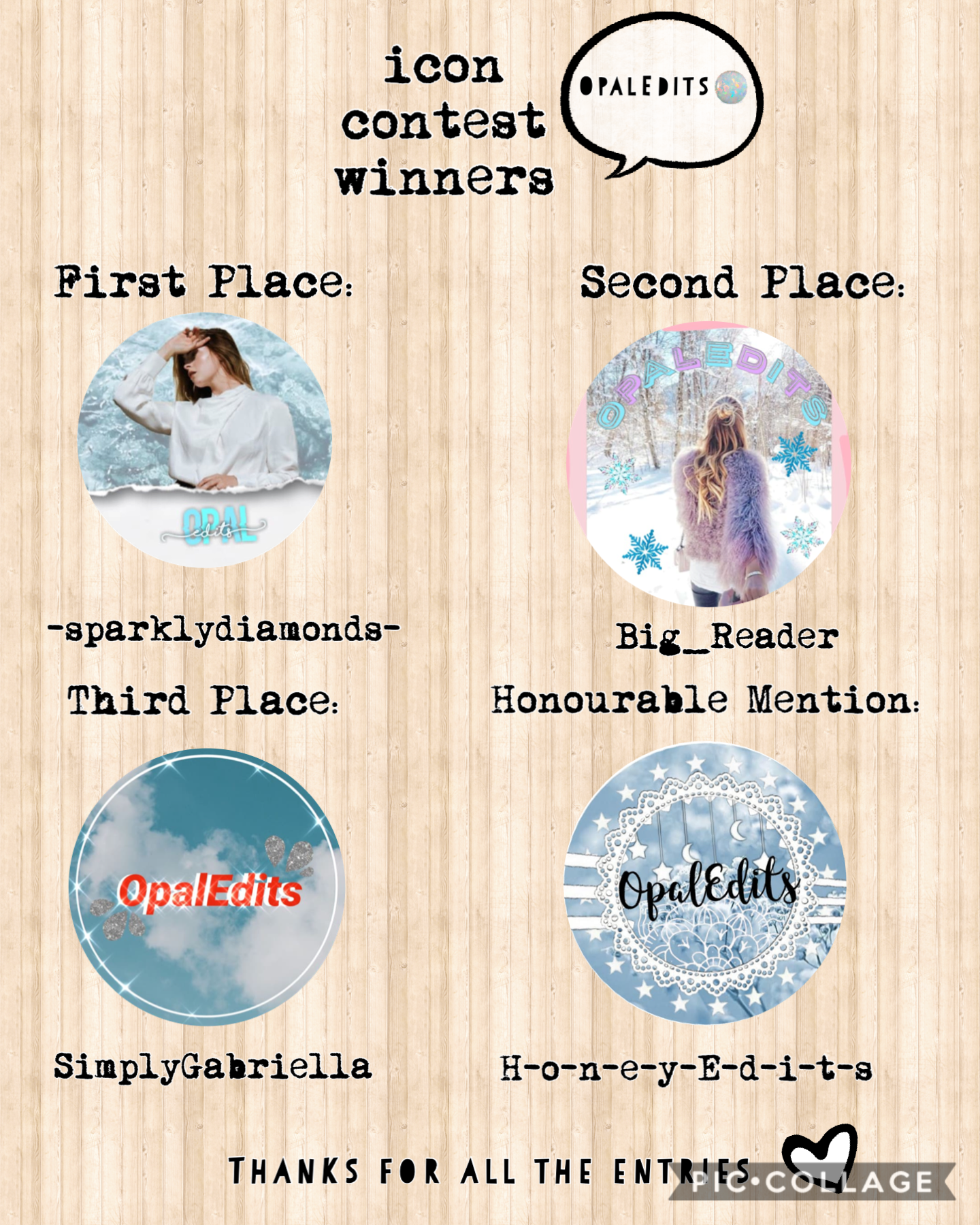 Opal Edits Icon Contest Results Did U Place?