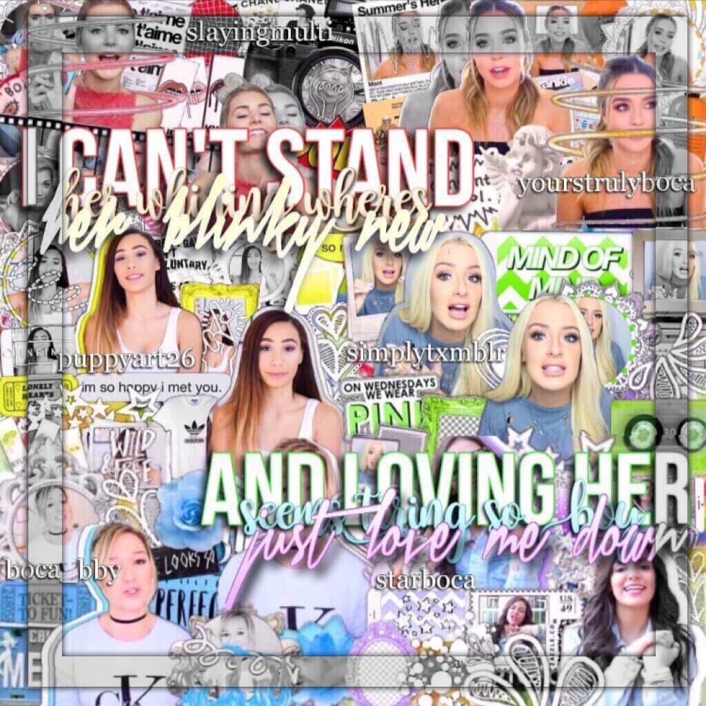 Click🌈💜 Amazing Rainbow Mega Collab with Julie, Samantha, Heather, Sami and Rachel💞 Follow these tallented people💗