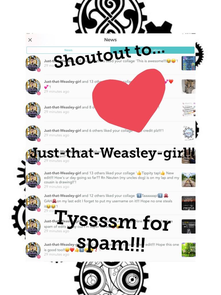 Tyssssm for spam!!!