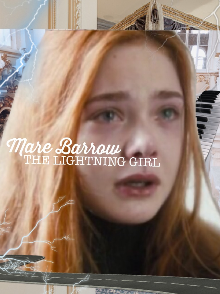 and a third one for red queen 🌹 — mare barrow, the lightning girl starring Elle Fanning (i think whoops) — does someone know why she is so purrfect for every character? 😻✨ like first violet markey and now... 😌🙏🏼