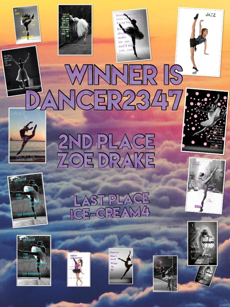 Winner is dancer2347