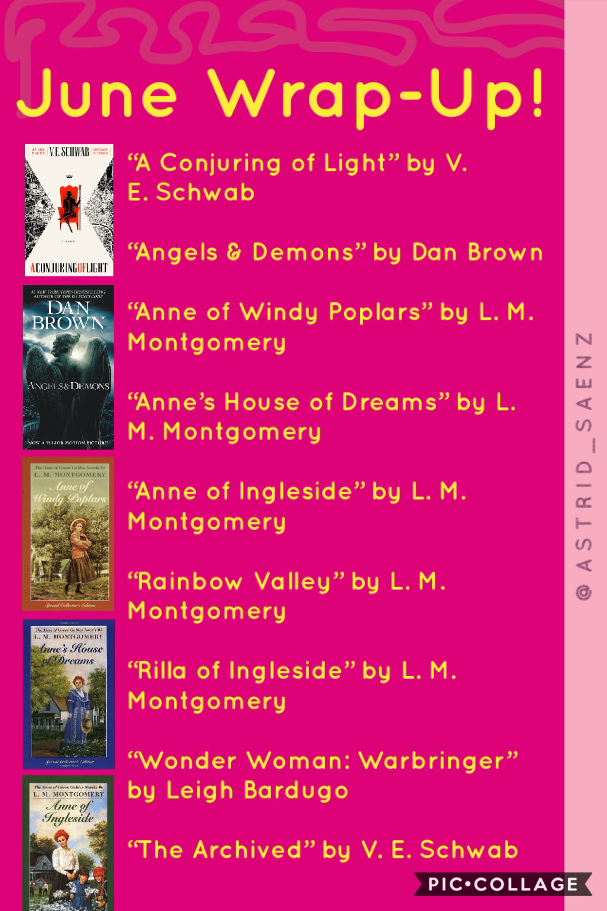 books i ticked off during june 😊✨ did you read anything fun last month? 💕✨ also this might be the most straight thing i've EVER said but quarantine has me missing boys sm 😂🤦🏽♀️💖 AGH. also! today's global @catharsis- day so go drop some 🎂🎂🎂