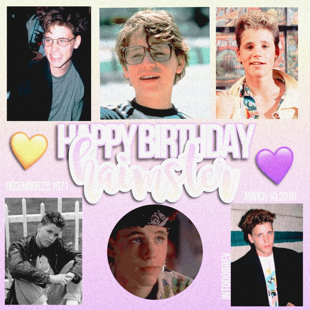 23/12/17- RIP AND HAPPY B-DAY MY BEAUTIFUL BABY! 💜 inspired by my girl luna -Alohomora-! even though corey is death we'll still obsess over him together 😭