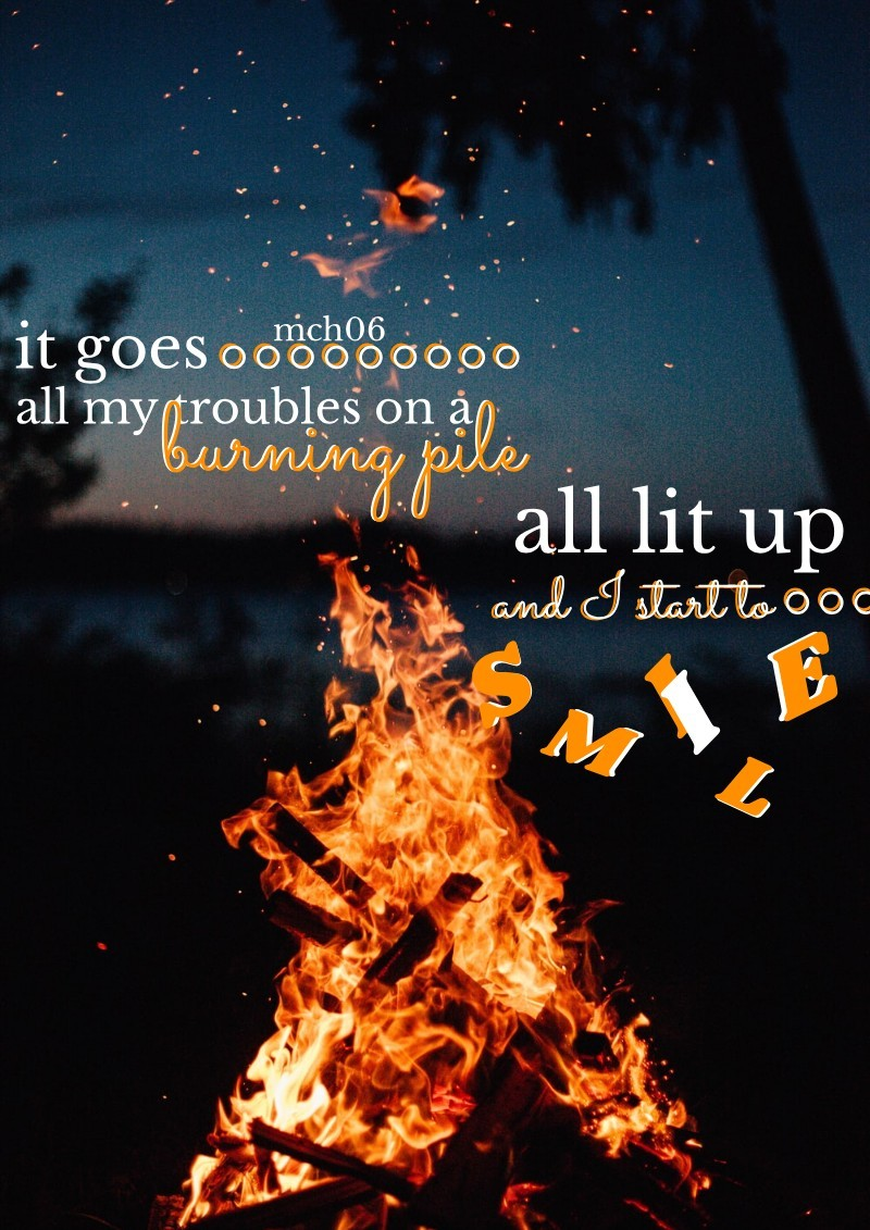 """🔥 tap 🔥 the """"I"""" in smile wasn't working 🙄 song: burning pile by mother mother, sorry I haven't been active lately, I have bad time management  3/6/21"""