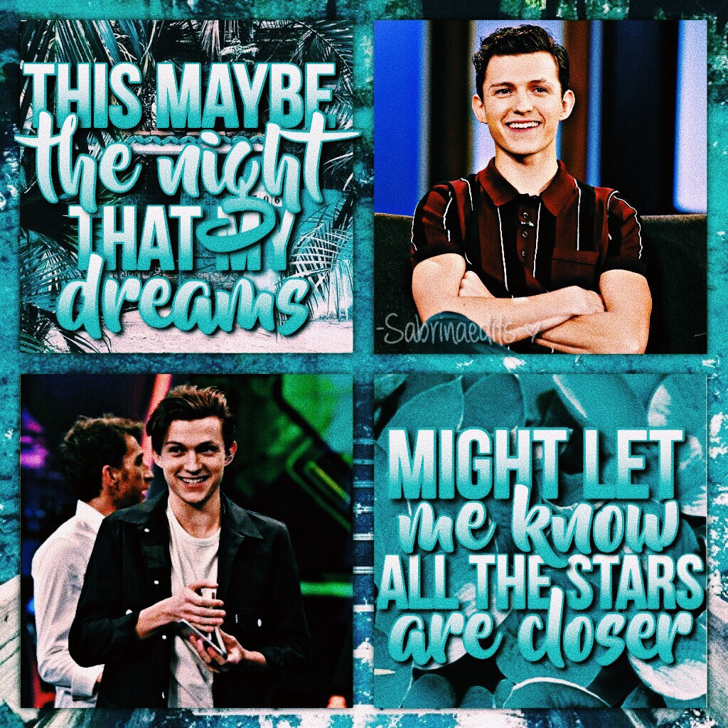 💙🌀 TAP HERE 🌀💙 hey guys! sabrina here and i'm sorry that i haven't been active! i had to pack and i was in pennsylvania for the whole weekend!  here's a tom holland edit for all the spider-man lovers! 🕷💙