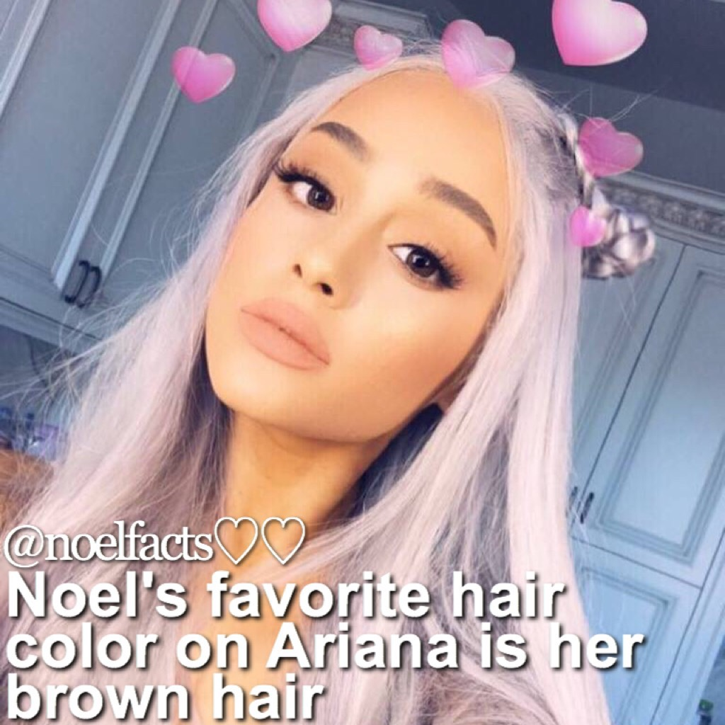 oml sorry I haven't posted in years 😬😬 but it's Nonna's birthday!! Happy birthday Nonna 💜👵🏼🎉 I really love Ariana's hair if it's a wig or not it's so cute! 😍😫🌙 QOTD: fav hairstyle on Ariana? AOTD: tbh I like brown on her.