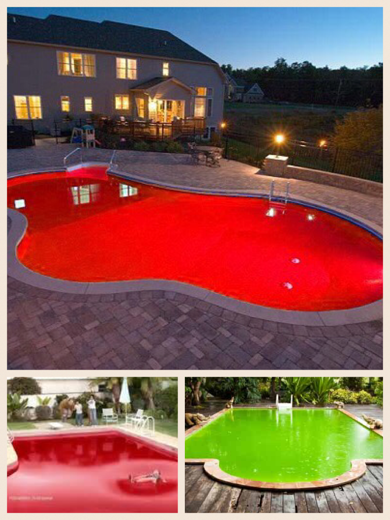 Pool filled with jello