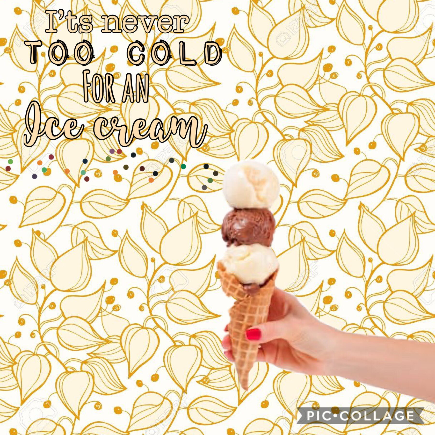 #itsnevertoocoldforanicecream