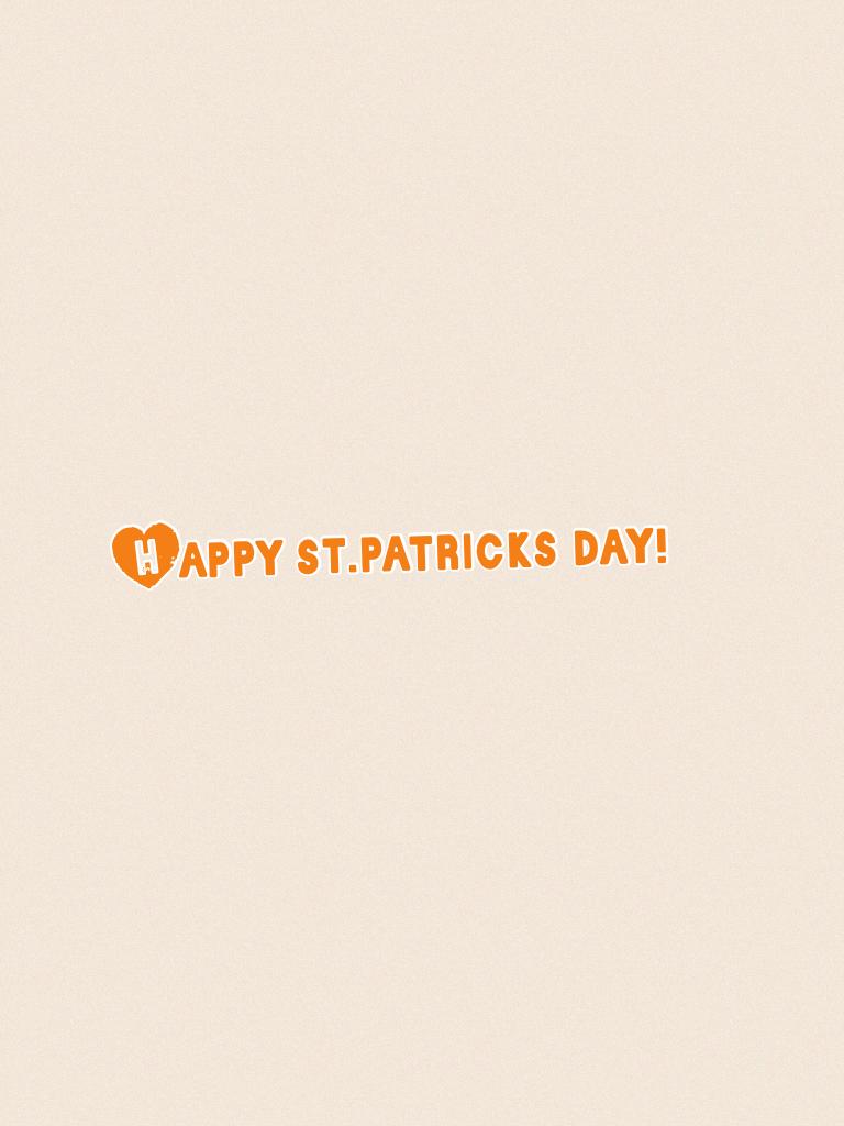 Happy st.patricks day!
