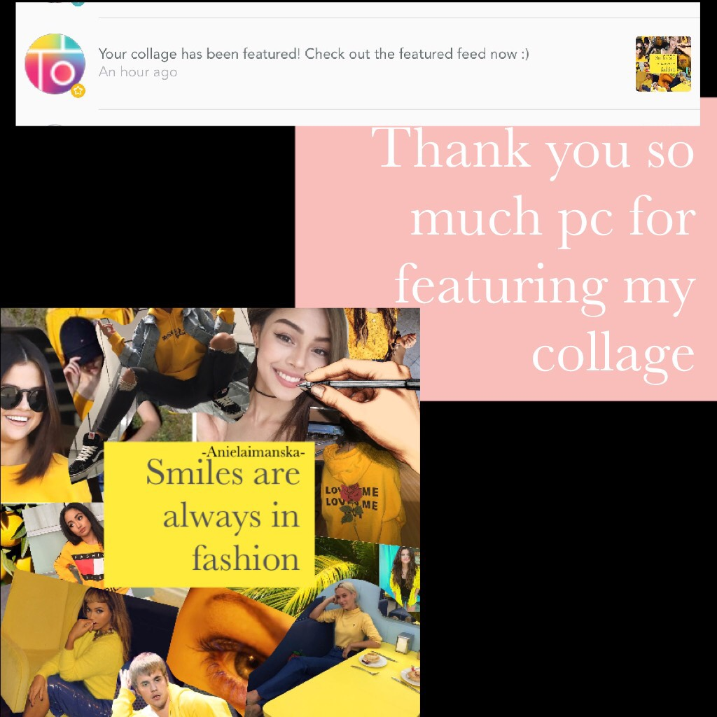 Thank you so much pc for featuring my collage 😊😁