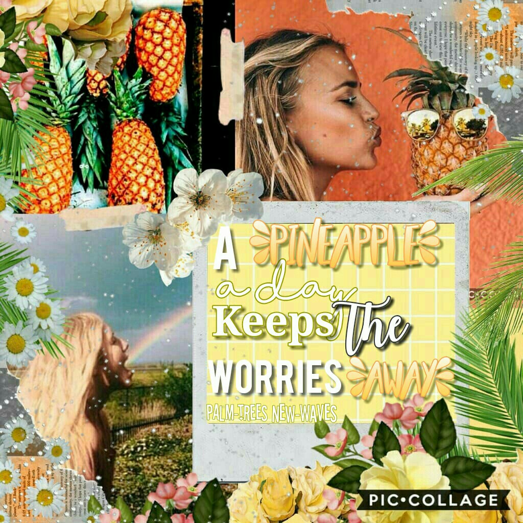 TaP fOR ColLaB  Collab with the amazing @new-waves 😁😁 What do you think?  I STILL CANT BELIVE I HAVE A FANPAGE!!!!!!!!  p.s.....  i think MOTO MOTO likes you   tags: pineapple, collab, feature, Palm-trees, edit
