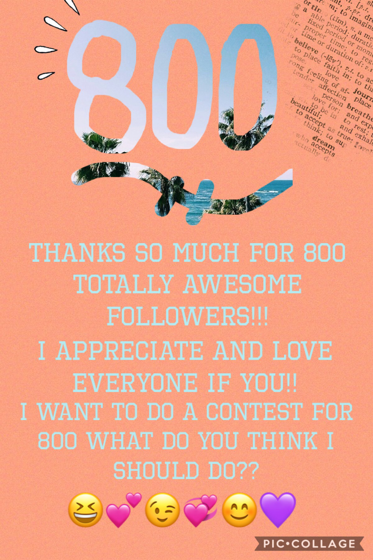 800!!!! Comment what you think I should do.