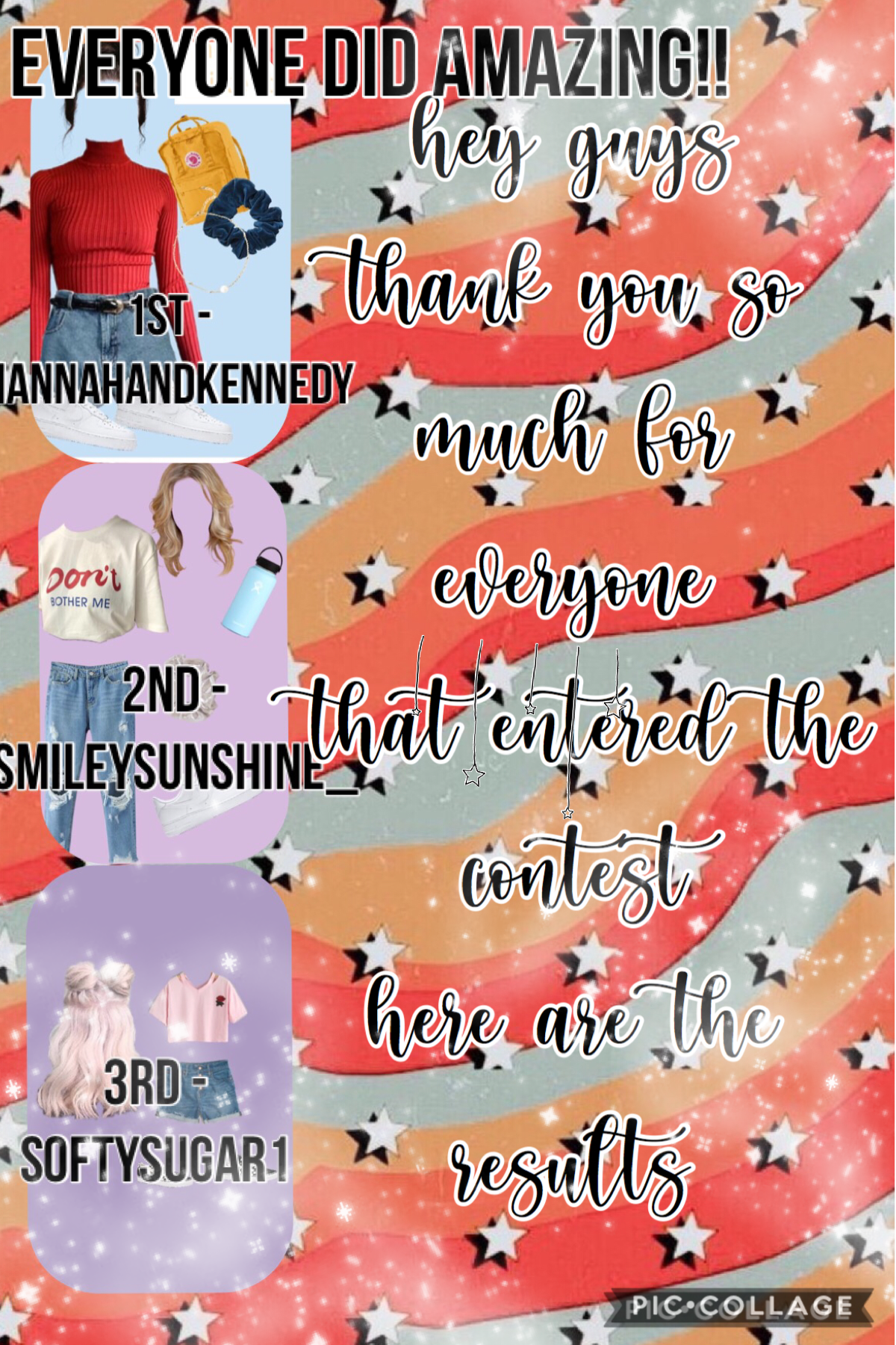 hey!! tysm for everyone who entered the contest! it was very hard choosing. great job!