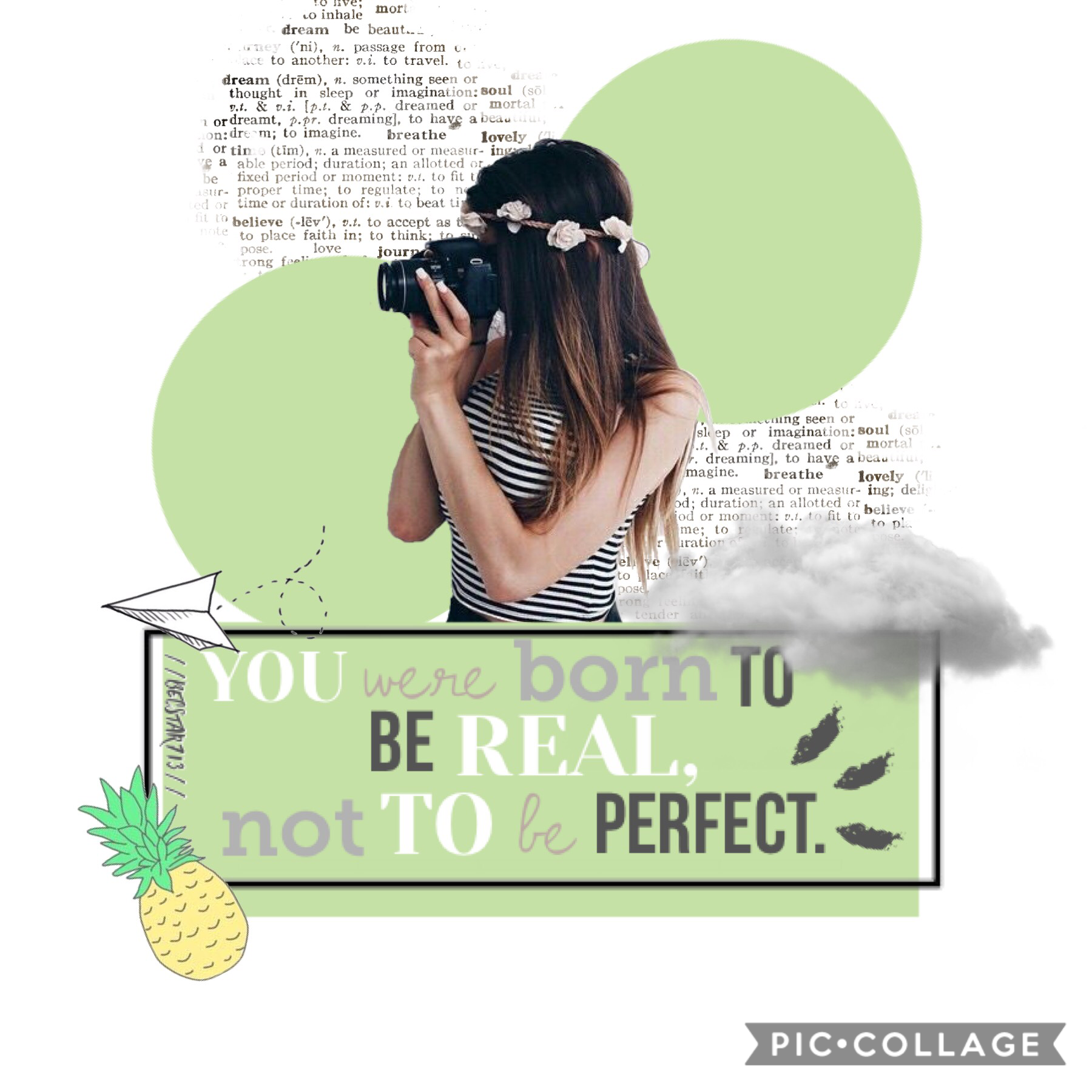 Perfect! Tap the 💚! Hi! Tysm for 450 followers! Comment down below ⬇️ if you think I should do a games on my extras account. You were born to be real not to be perfect.