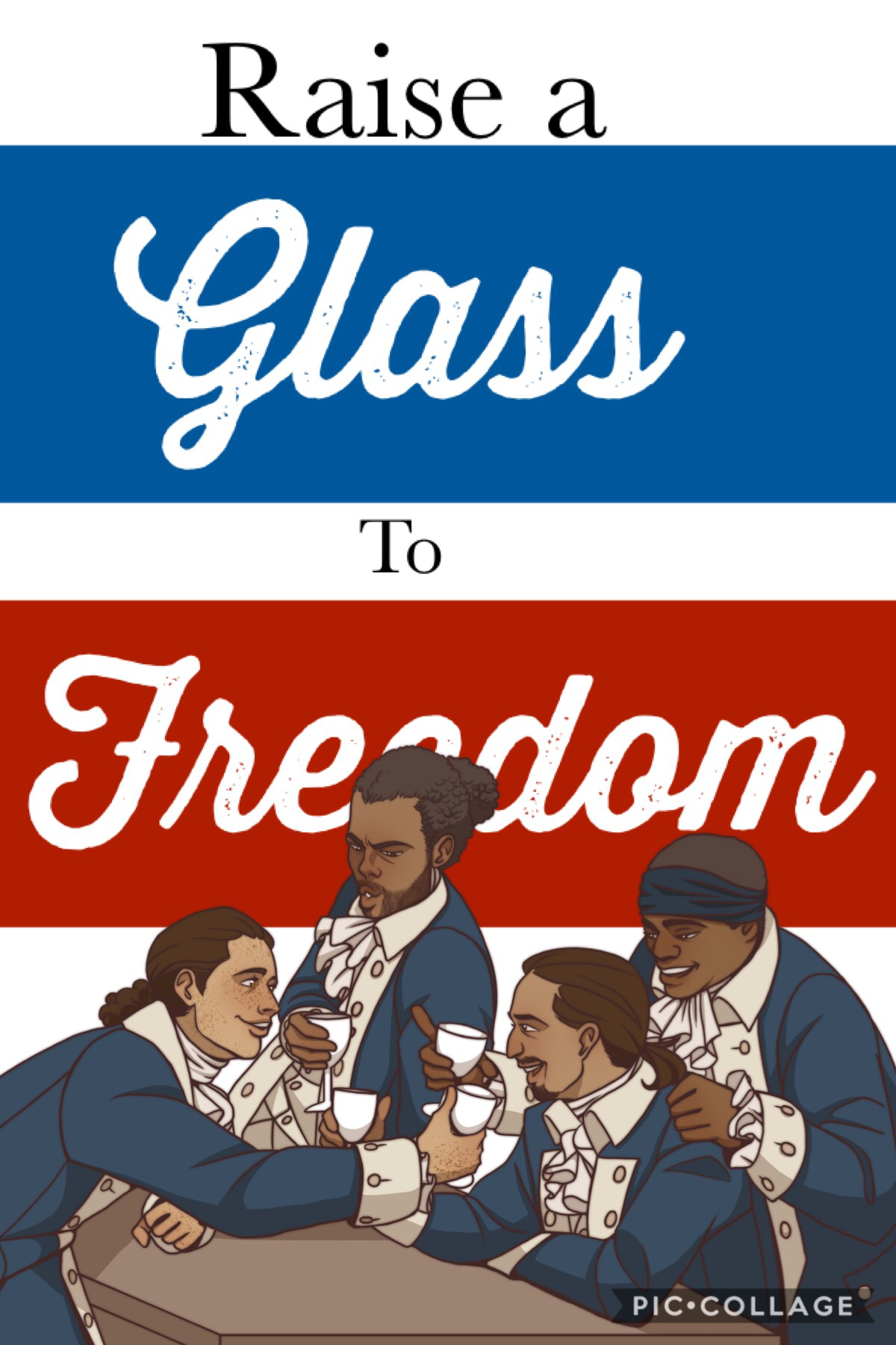 "⭐️Tap a Tap⭐️ I actually like this one... What do you guys think? ""Raise a glass to freedom,"""