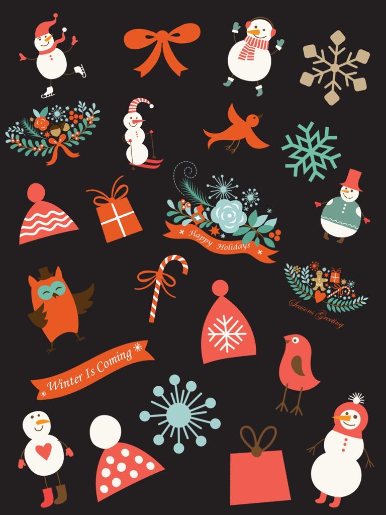 Winter wonderland stickers are here!