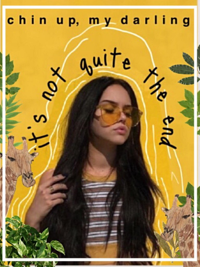 If you didn't know to tap would you anywayz?  LOOKS LIKE YOU WOULD HA #newstyle inspired by @ASTRID_SANEZ 💓 love ya I used phonto for this, but the quote is mine. I actually drew the giraffe 😂 WDYT? Rate? QOTD: fav book rn? AOTD: The One Safe Place 💓