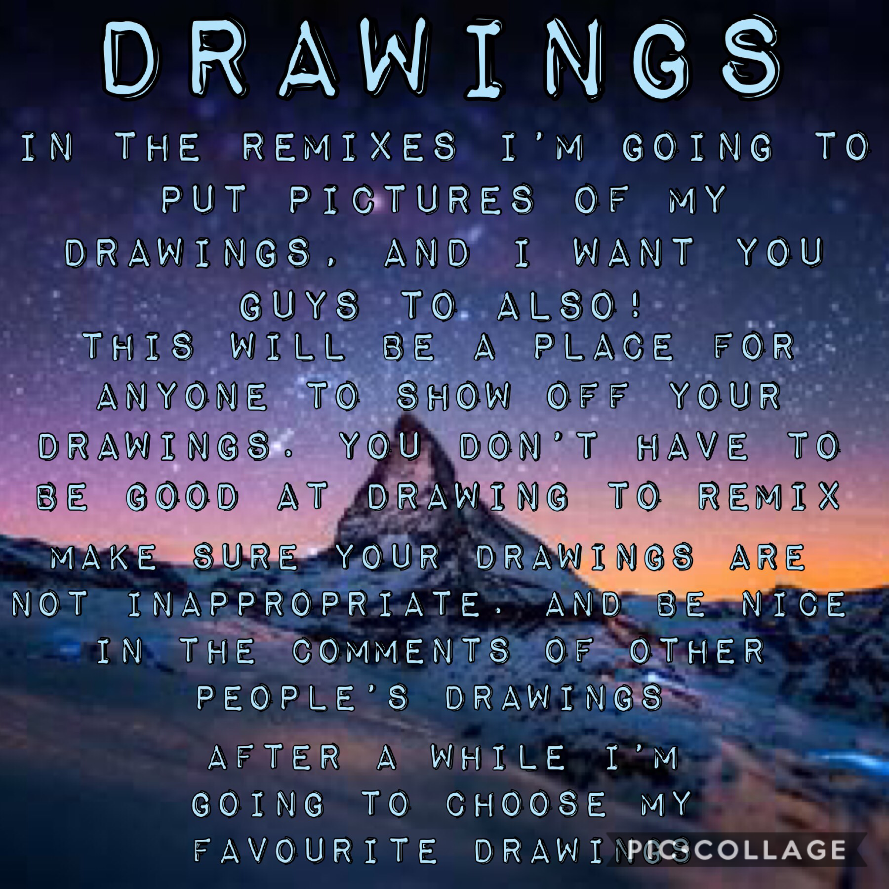 Remix your drawings!💕💕💕