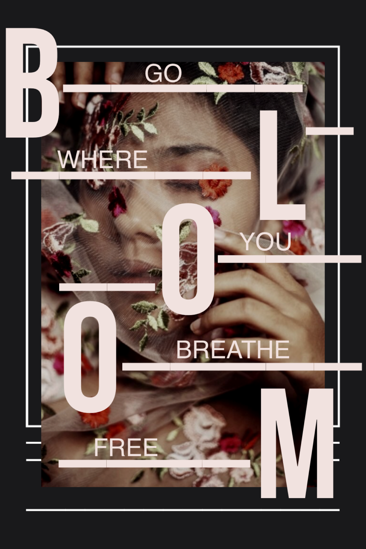 bloom 🌷  I was scrolling through pinterest and saw some art I felt so inspired I decided to recreate it my own way 🤩