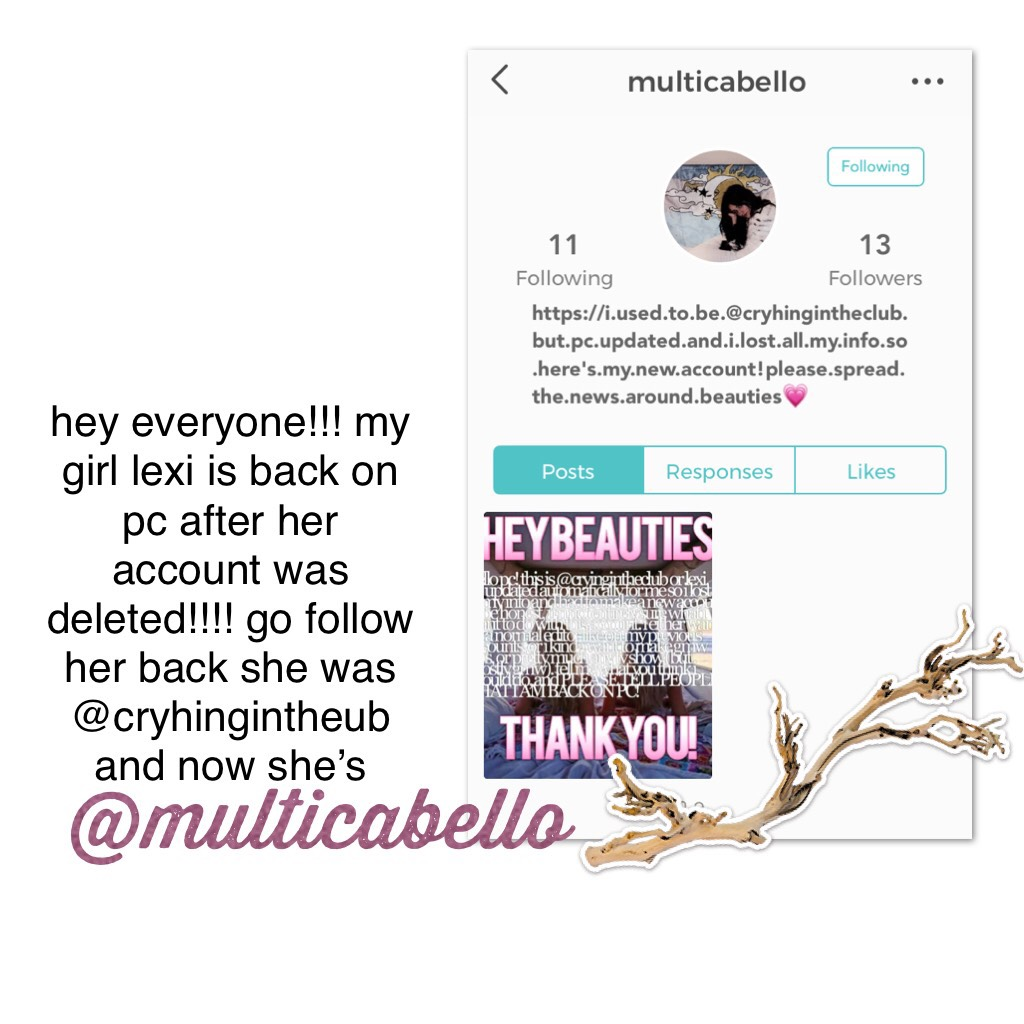 @multicabello >> go follow her!!!