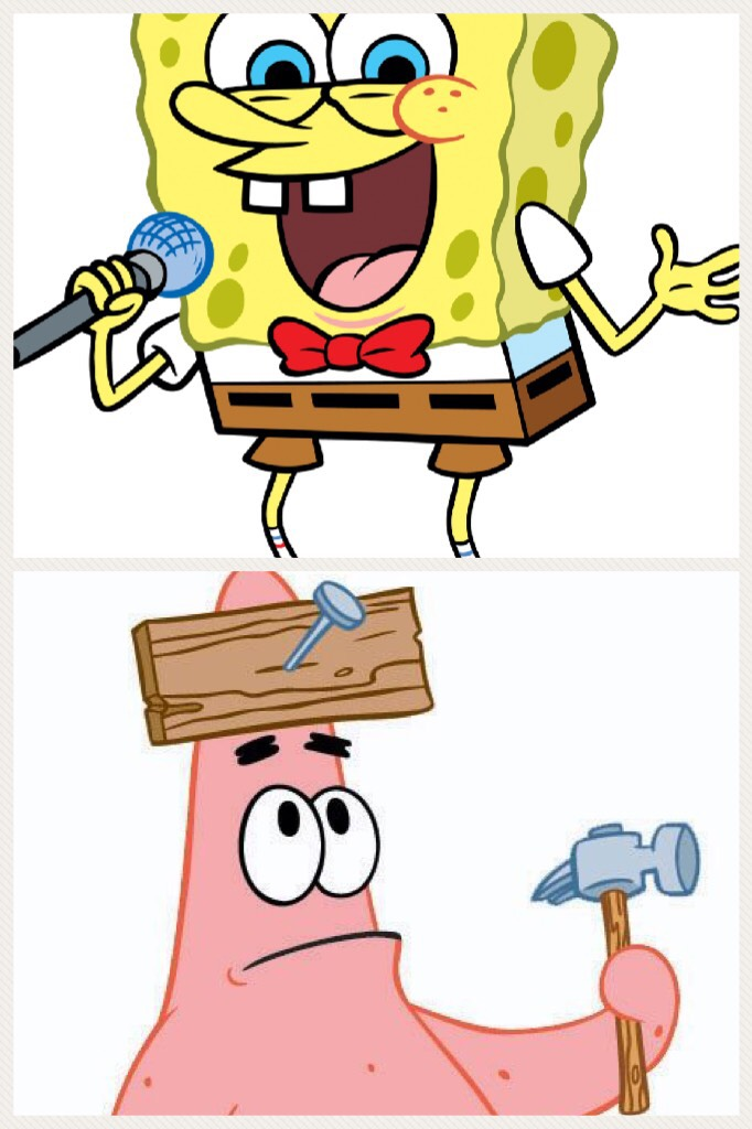 SpongeBob vs Patrick tell me who wins in the comments below  in the next  collage I will tell who wins