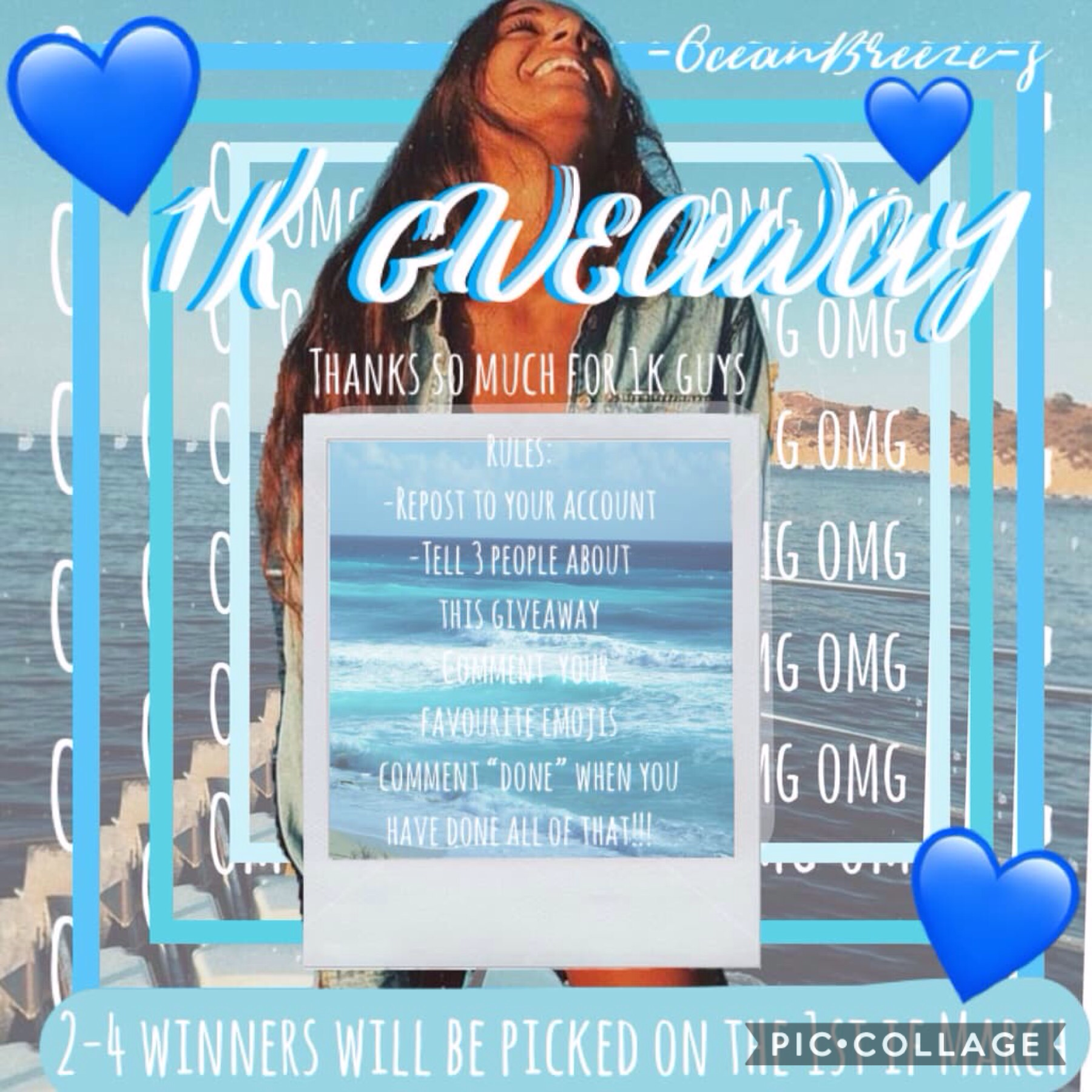 💙AHHHHHHHH CONGRATS MADDIE💙  Don't forget to enter my 1k giveaway!💜