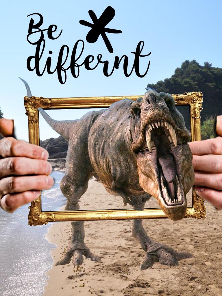 Haha idk why?? A dinosaur seriously! I'm just strange 😂