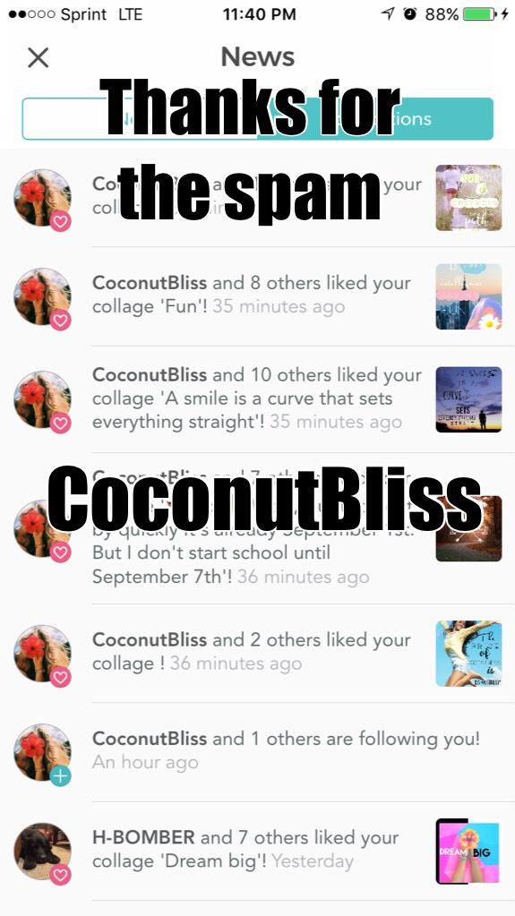 Go follow CoconutBliss!