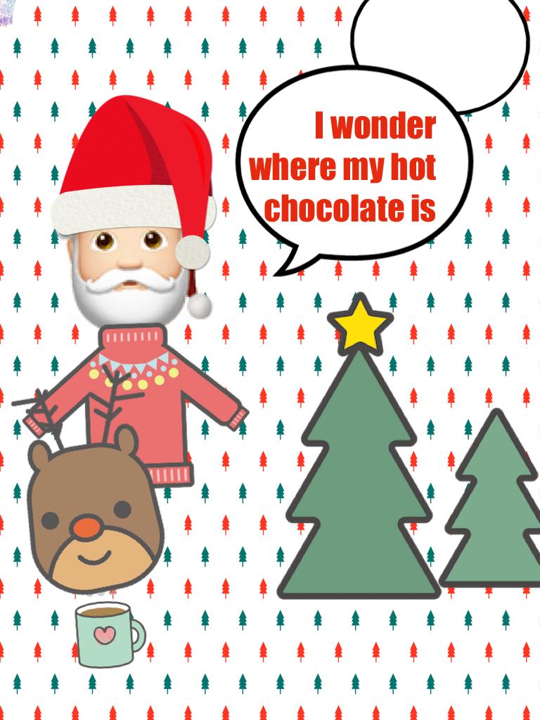 🎅🏻where is my hot chocolate 😜