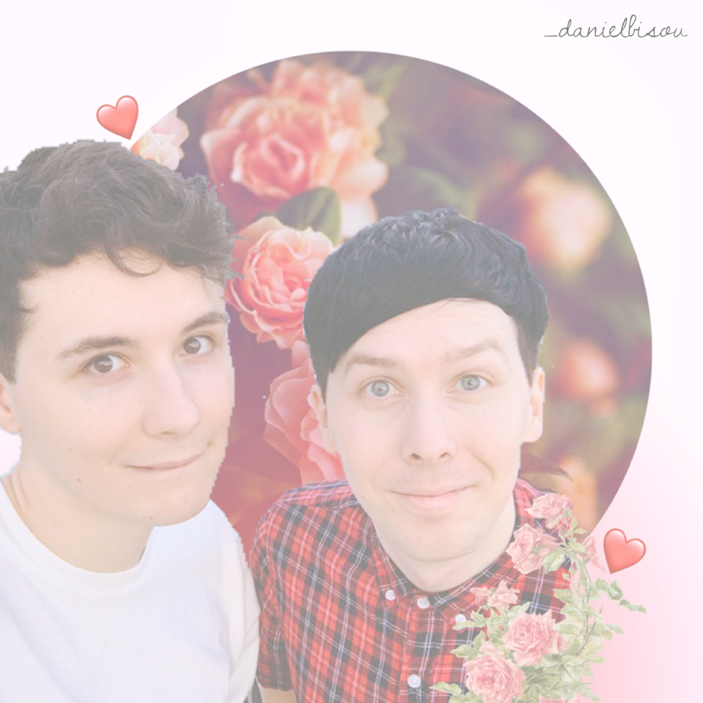 Read below pls♡  First time making an edit after leaving PicCollage for about a year... please excuse the pixel-ly photo of Dan and Phil...  If you are interested in more of my edits you can follow me here or on my ig account, @_danielbisou   It's kinda n