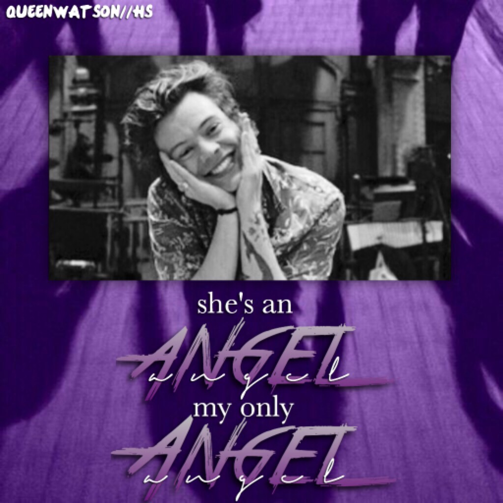 ☂️tap☂️ Harry Styles #6 Purple ☂️ Next: Pink🌺 Song: Only angel- Harry Styles  Hope you like it  Louis' new song is amazing I'm so proud 😂💓 Love always, queenwatson 🌼