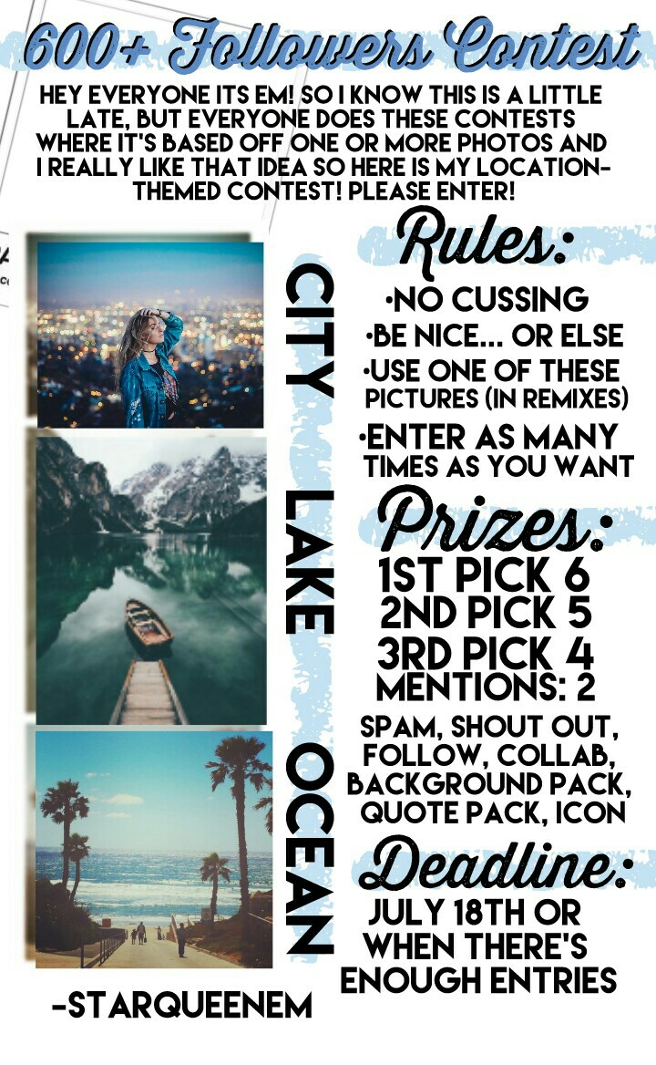 💙tap💙 So I really hope this turns out well, I know I haven't posted in a while but I'll post a collage later today or tomorrow. im also working on a collab! so here's this contest, good luck!