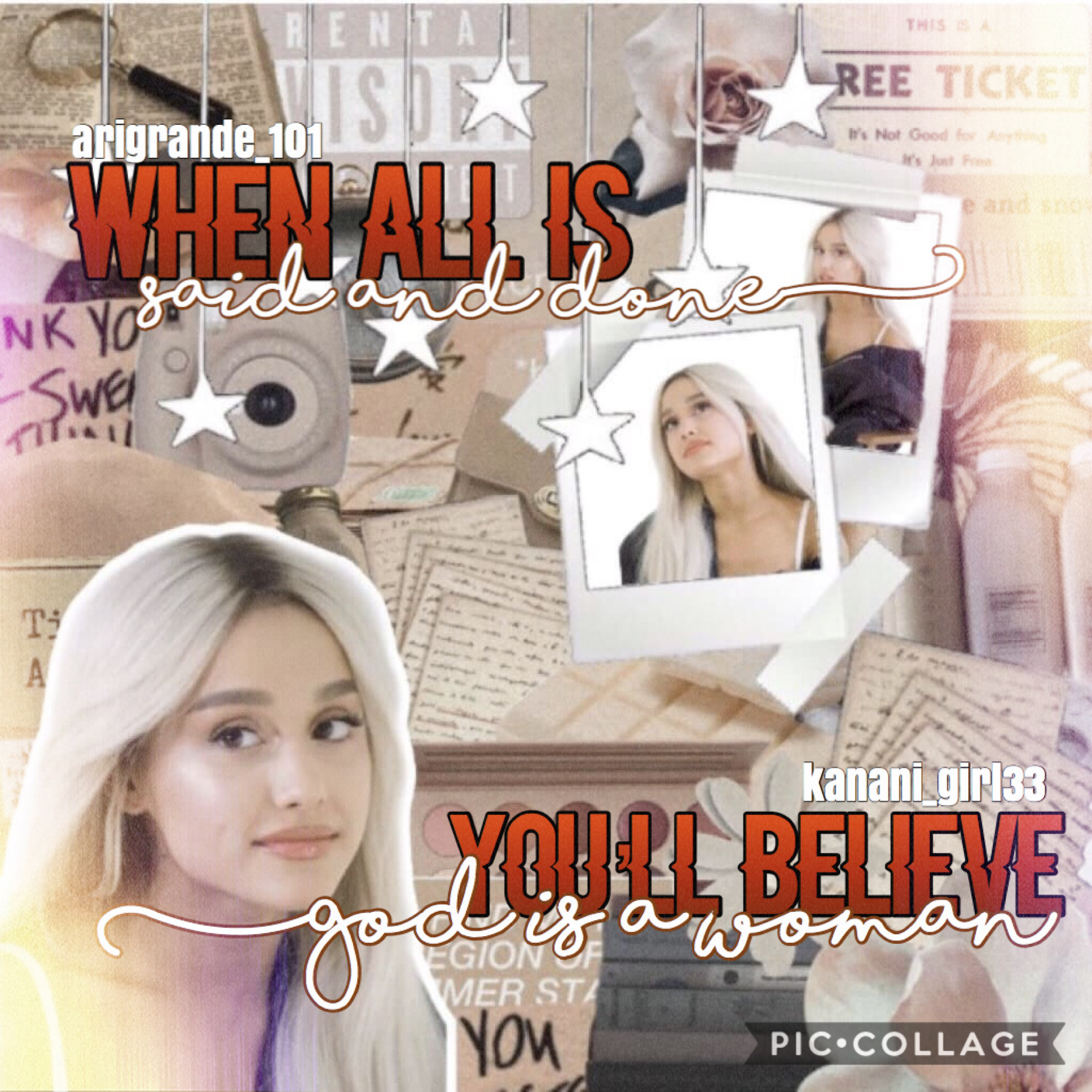 ☆12/31/19☆ Collab with ♥️♥️♥️ Arigrande_101!! She is super nice and I love working with her!! 💕 She did the wonderful background and I did the text!! 😇 Happy New Year!! Qotd: what's your New Year's Resolution? 🥳🎉