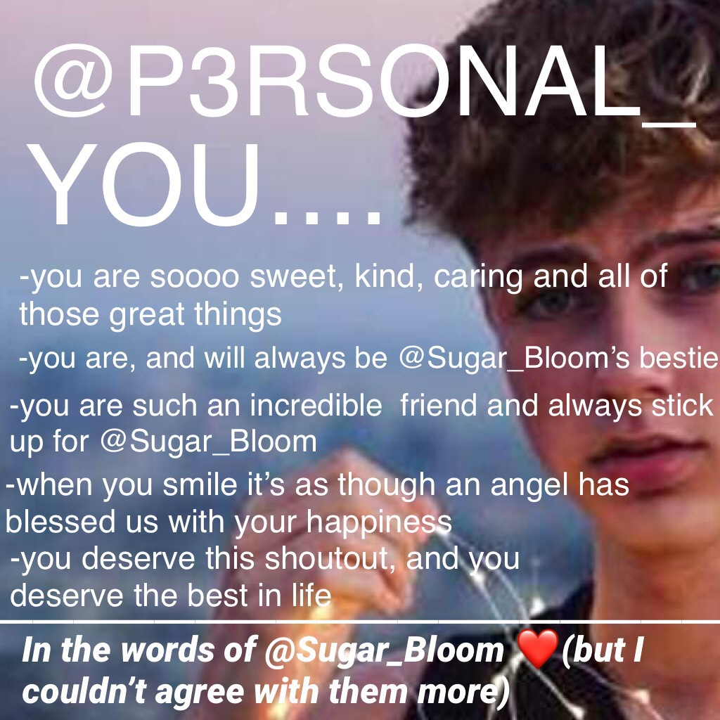 @P3RSONAL_ you are a truly wonderful person! We're so lucky to have you here on PC! Also any fan of Hrvy is a friend of mine.😉💜You can thank you're lovely friend @Sugar_Bloom for this collage. Hope you have/had a great day!!☺️