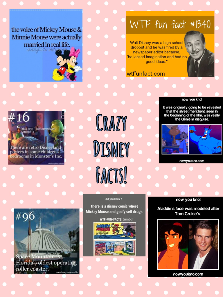 Tap the 🐭 Crazy Disney Facts!