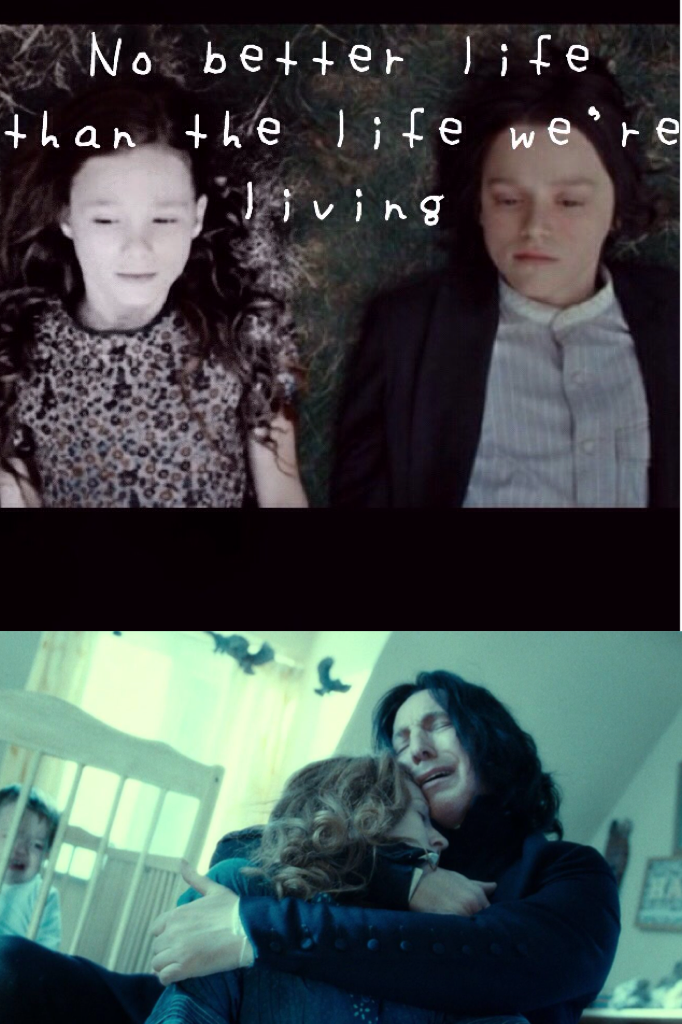 Snape and Lily😪