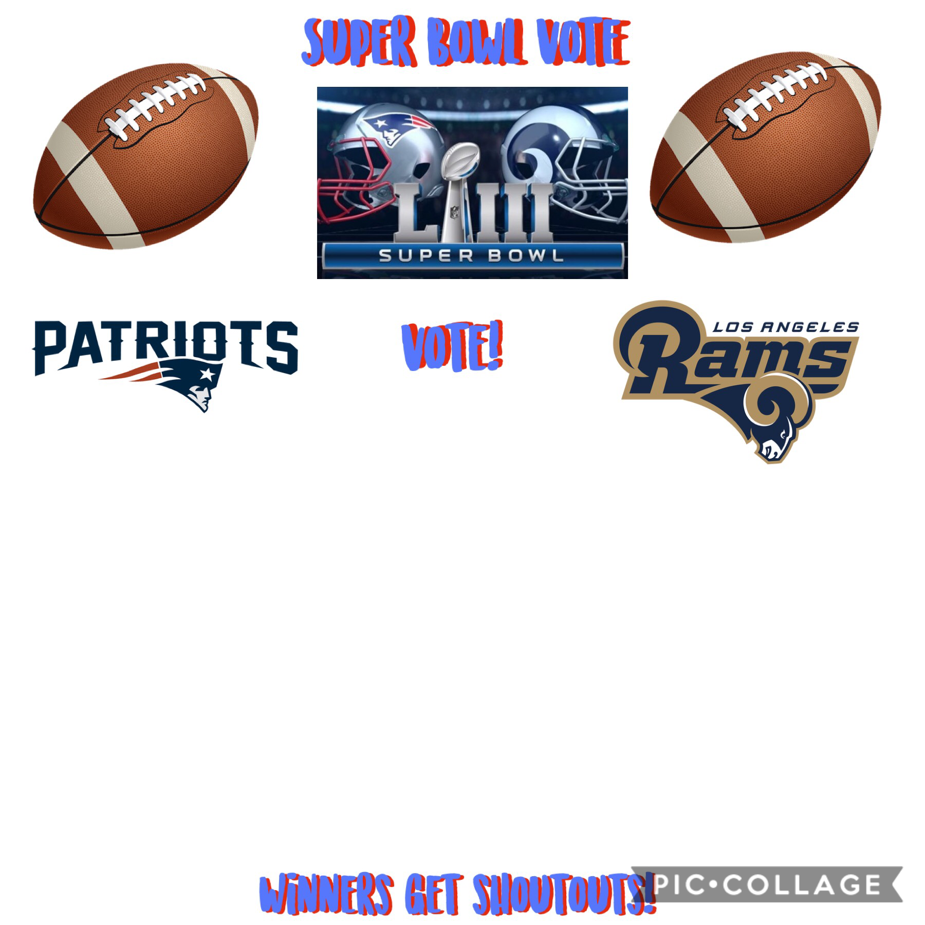🏟🏈SUPER BOWL VOTE! 🏈🏟 remix your vote! 😊